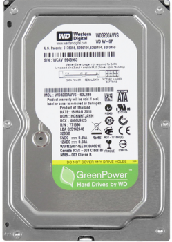 "Жорсткий диск Western Digital AV GreenPower 320ГБ 5400об/м 8МБ 3.5"" SATA II (WD3200AVVS)"
