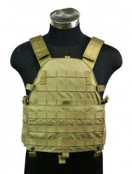 Бронежилет Pantac Molle 6094 Plate Carrier VT-C094 With Commerbund, Cordura Medium, Хакі (Khaki)