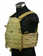 Бронежилет Pantac Molle 6094 Plate Carrier VT-C094 With Commerbund, Cordura Medium, Хакі (Khaki) - зображення 3