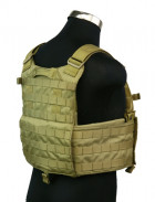 Бронежилет Pantac Molle 6094 Plate Carrier VT-C094 With Commerbund, Cordura Medium, Хакі (Khaki) - зображення 4