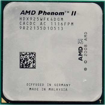 Процессор AMD PHENOM II X4 925 4 ЯДРА, 2.8 GHZ, s AM3 / AM2+, ( HDX925WFK4DGM ) Tray Б/У