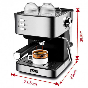 Кавоварка еспресо ріжкова напівавтоматична кавова машина DSP Espresso Coffee Maker KA-3028 850W