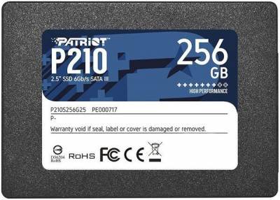 "Накопитель SSD 256GB Patriot P210 2.5"" SATAIII TLC (P210S256G25)"