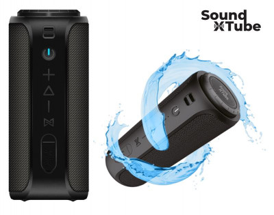 Акустична система 2E SoundXTube TWS, MP3, Wireless, Waterproof Black (2E-BSSXTWBK)