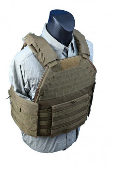 Бронежилет чехол Shark Molle SPC Armor Vest 90002937, Medium, 900D Coyote Brown