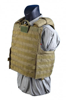 Бронежилет чохол Shark Releaseable Molle Armor 90002 (CIRAS) Marinetime Version, 900D Medium, Хакі (Khaki)