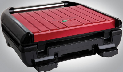 Электрогриль George Foreman 25050-56 Entertaining Steel Grill, 1850 Вт, Красный (JN6325050-56GF)