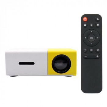 Проектор мультимедийный с динамиком Led Projector YG300 250 г White/Yellow