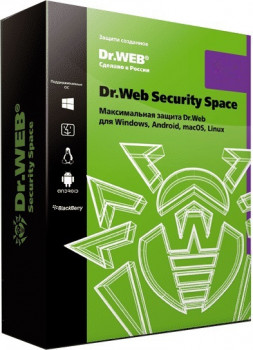 Антивирус Dr. Web Security Space Multi-Device (1 ПК/1 ГОД) ESD (LHW-BK-12M-1-A3)