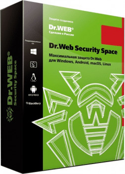 Антивирус Dr. Web Security Space Multi-Device (2 ПК/1 ГОД) ESD (LHW-BK-12M-2-A3)