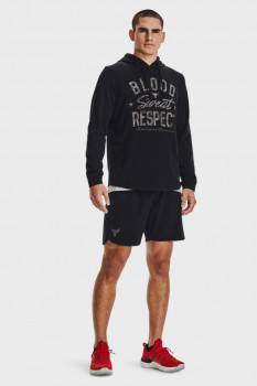 Мужское черное худи UA Project Rock Terry BSR HD-BLK Under Armour 1361748-001