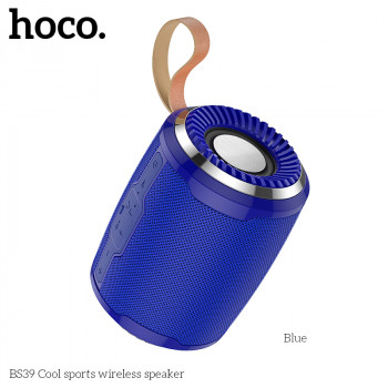 Портативная акустическая система HOCO wireless speaker Cool sports BS39 |IPX5, TWS, TF/USB/FM, BT5.0| Blue