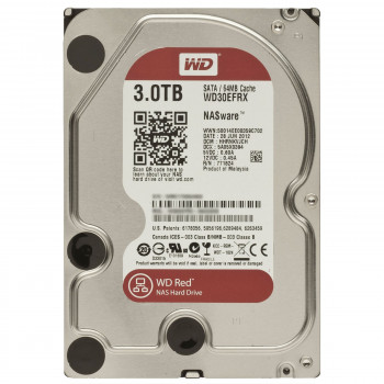 Накопичувач HDD SATA 3.0TB WD Red 5400rpm 64MB (WD30EFRX)