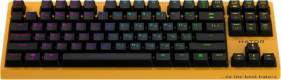 Клавиатура оптическая HATOR Rockfall EVO TKL Optical ENG/UKR/RUS Yellow (HTK-632)